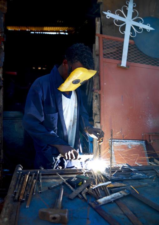 Medebar Metal Market In Asmara, Eritrea