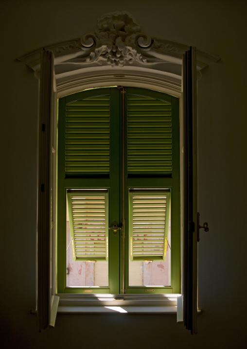 Eritrea, Horn Of Africa, Asmara, window in a room in albergo italia  former keren hotel