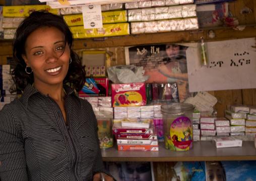 Eritrea, Horn Of Africa, Asmara, smiling woman
