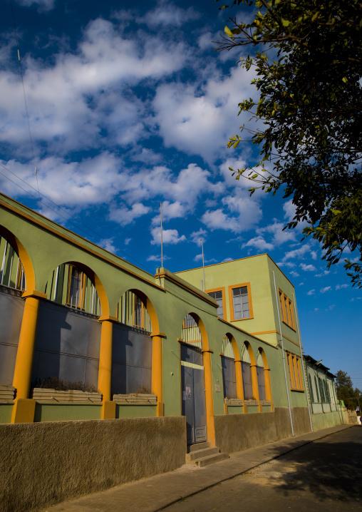 Old Italian Building In Asmara , Eritrea