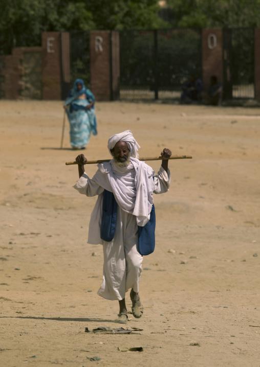 Man Walking With Stick, Keren, Eritrea