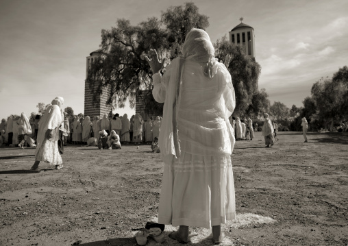Women Praying At Enda Mariam Church, Asmara, Eritrea