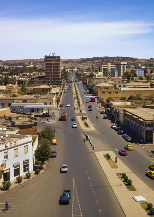 Eritrea, Horn Of Africa, Asmara, aerial view