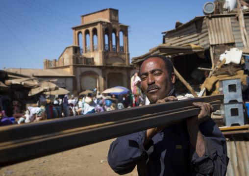 Worker At Medebar Metal Market, Central region, Asmara, Eritrea