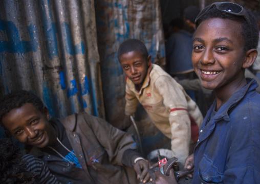 Children Working In Medebar Metal Market, Central region, Asmara, Eritrea