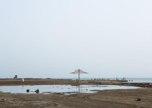 Old Umbrella On The Seaside, Northern Red Sea, Massawa, Eritrea