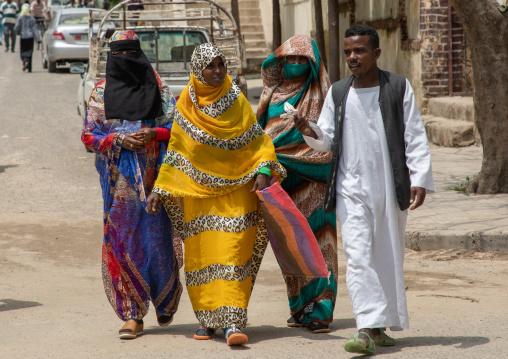 Muslims eritrean people in the street, Semien-Keih-Bahri, Keren, Eritrea