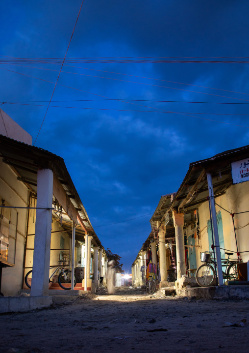 Market alleys at night, Semien-Keih-Bahri, Keren, Eritrea