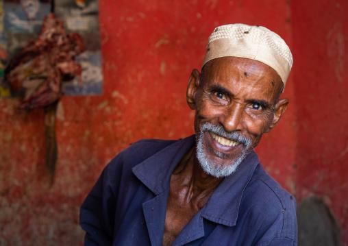 Portrait of a smiling butcher, Gash-Barka, Agordat, Eritrea