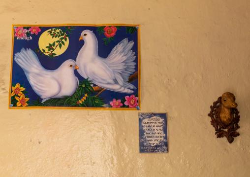 Decoration in an eritrean house, Gash-Barka, Agordat, Eritrea