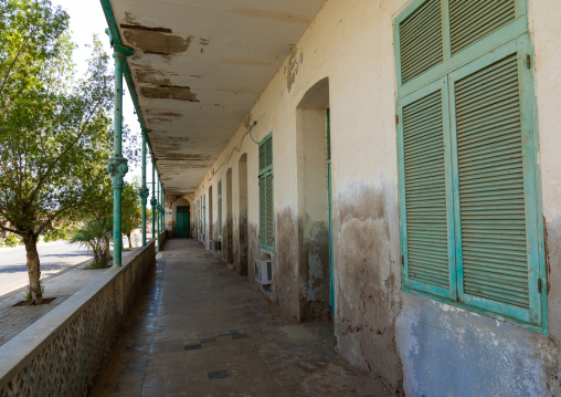 Old colonial building from the italian era, Northern Red Sea, Massawa, Eritrea