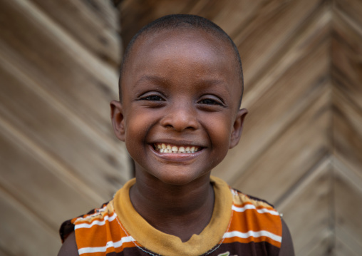 Portrait of a smiling boy in the street, Northern Red Sea, Massawa, Eritrea