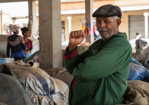 Eritrean man in the grain market, Central region, Asmara, Eritrea