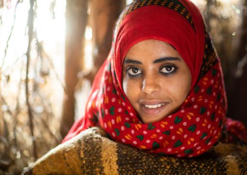 Portrait of an eritrean tribal woman, Central region, Asmara, Eritrea