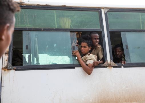 Young eritreans back from sawa military training academy, Semien-Keih-Bahri, Elabered, Eritrea