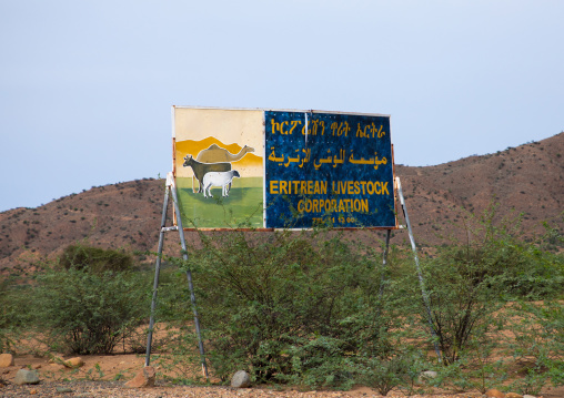 Billboard for eritrean livestock corporation, Northern Red Sea, Massawa, Eritrea