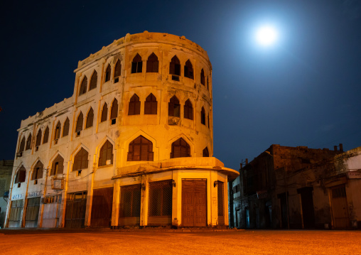 The hotel torino built in 1938 is an example of venetian influenced architecture, Northern Red Sea, Massawa, Eritrea