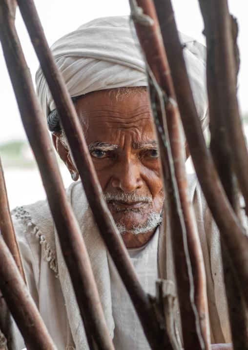 Portrait of a Rashaida tribe man, Northern Red Sea, Massawa, Eritrea