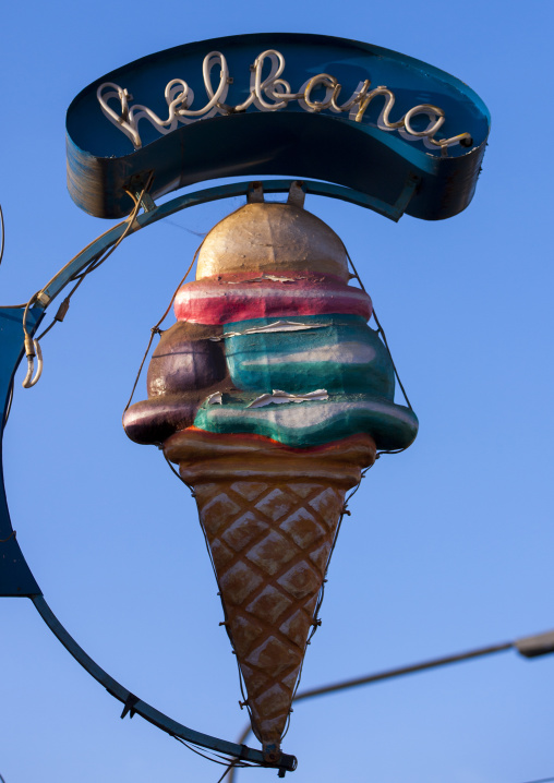 Ice Cream Sign, Central region, Asmara, Eritrea