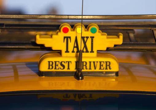 Taxi Sign, Central region, Asmara, Eritrea