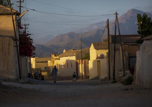 Old Quarter In The Sunset, Anseba, Keren, Eritrea