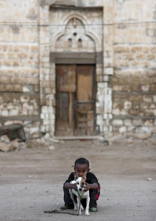 Kid With Hos Dog, Northern Red Sea, Massawa, Eritrea