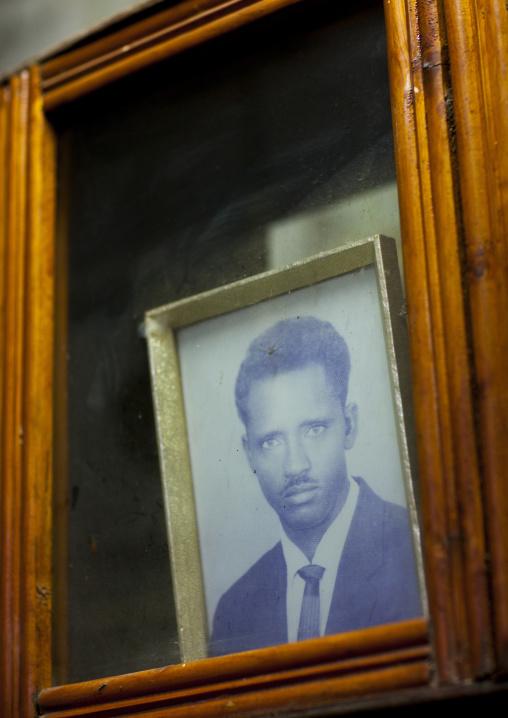 President Isaias Afewerki Portrait In A Bar, Northern Red Sea, Massawa, Eritrea