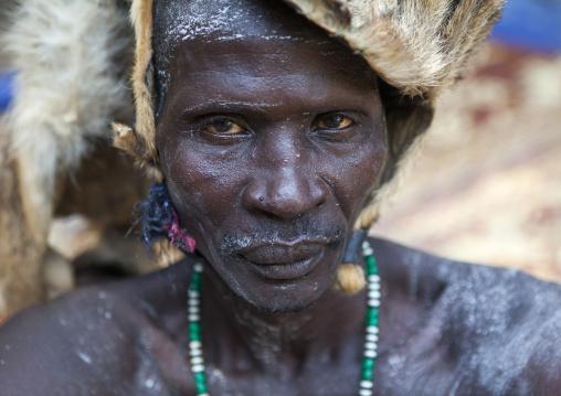 Mr Umot Abula From Anuak Tribe In Traditional Clothing, Gambela, Ethiopia