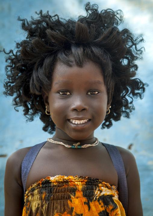 Ajulu, Anuak Tribe Gilr With A Wig, Gambela, Ethiopia