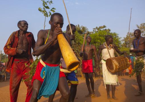 Majang Tribe Dancing For A Celebration, Kobown, Ethiopia
