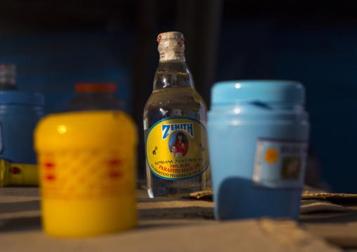 Parraffin Bottle In A Market, Gambela, Ethiopia