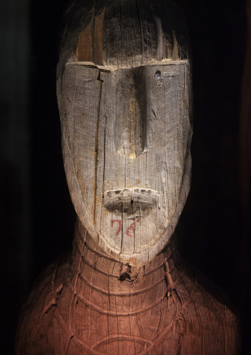 Famous Carved Wooden Effigies Of Waga Chiefs And Warriors, Konso, Ethiopia