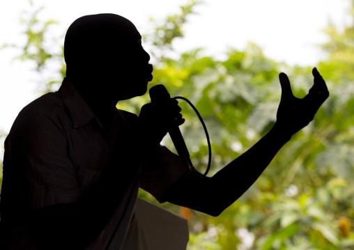 Preacher During A Catholic Sunday Church Service, Gambela, Ethiopia