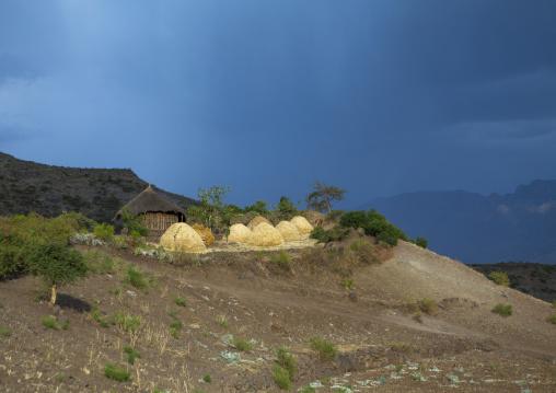 Traditional Houses In The Ethiopian Highlands, Lalibela, Ethiopia