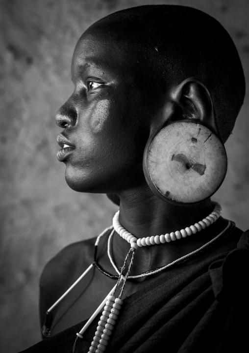 Mursi Tribe Beauty, Hail Wuha Village, Omo Valley, Ethiopia