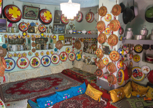 Decoration Inside An Harari House, Harar, Ethiopia