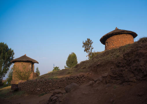 Traditional houses for the monks, Amhara region, Lalibela, Ethiopia
