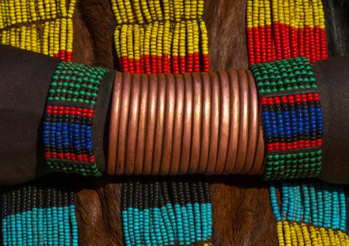 Hamer tribe woman copper bracelets, Omo valley, Turmi, Ethiopia