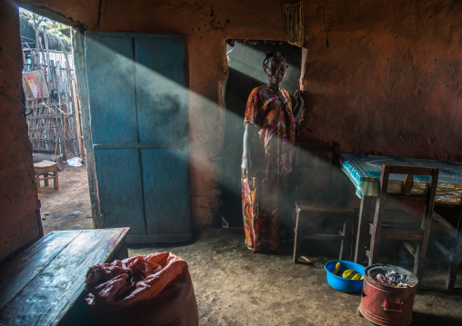 Ray of light going inside a house, Omo valley, Jinka, Ethiopia