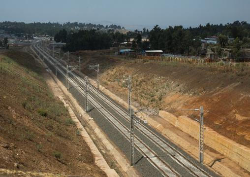 New electric railway line to djibouti, Addis abeba region, Addis ababa, Ethiopia