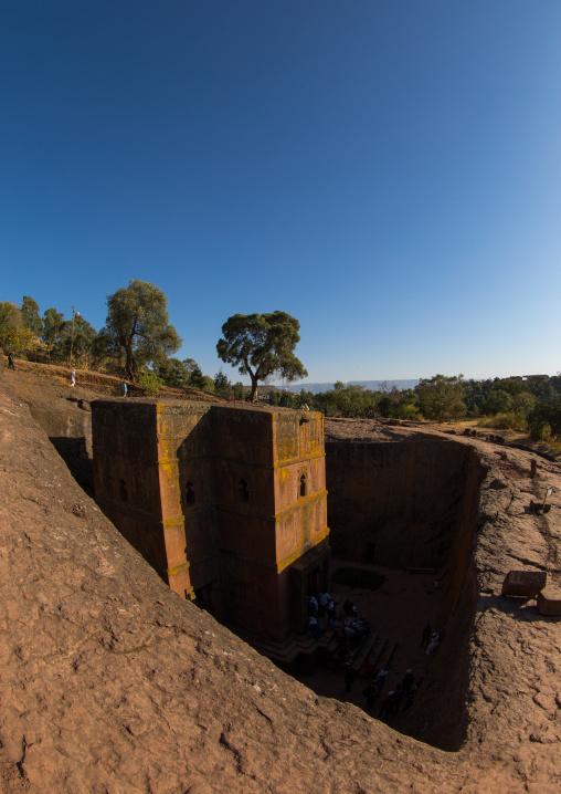 Monolithic rock-cut church of st. George , Amhara region, Lalibela, Ethiopia