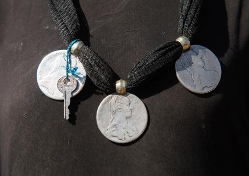 Artuma tribe silver Maria Teresa Thaler pendant, Amhara region, Kemise, Ethiopia