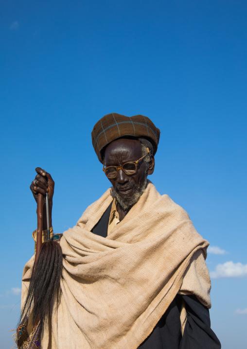 Portrait of a Borana tribe elder during the Gada system ceremony in Borana tribe, Oromia, Yabelo, Ethiopia