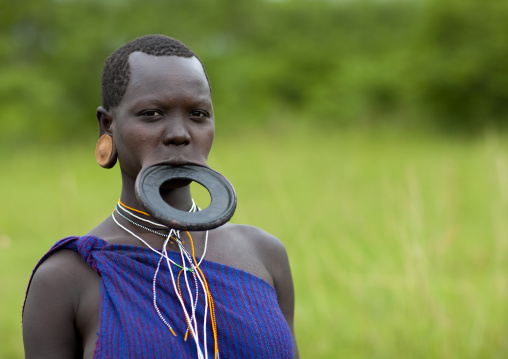 Surma Woman With A Lip Plate, Omo Valley, Ethiopia