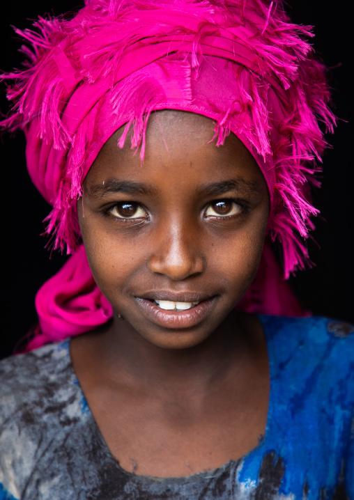 Portrait of an oromo girl, Oromia, Sheik Hussein, Ethiopia