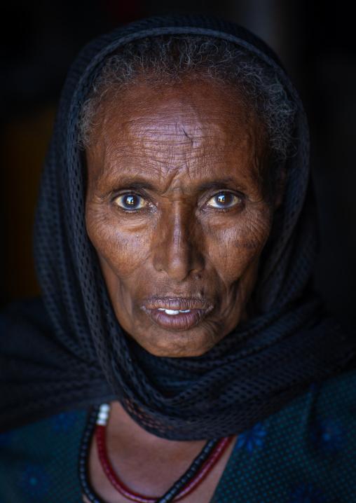 Portrait of a raya woman, Afar Region, Chifra, Ethiopia