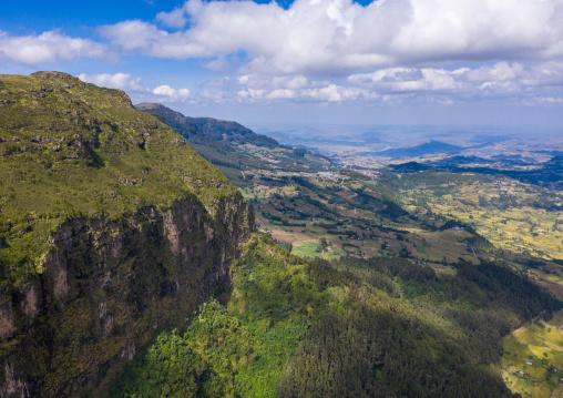 Aerial view of menelik's window landscape, Amhara Region, Debre Sina, Ethiopia