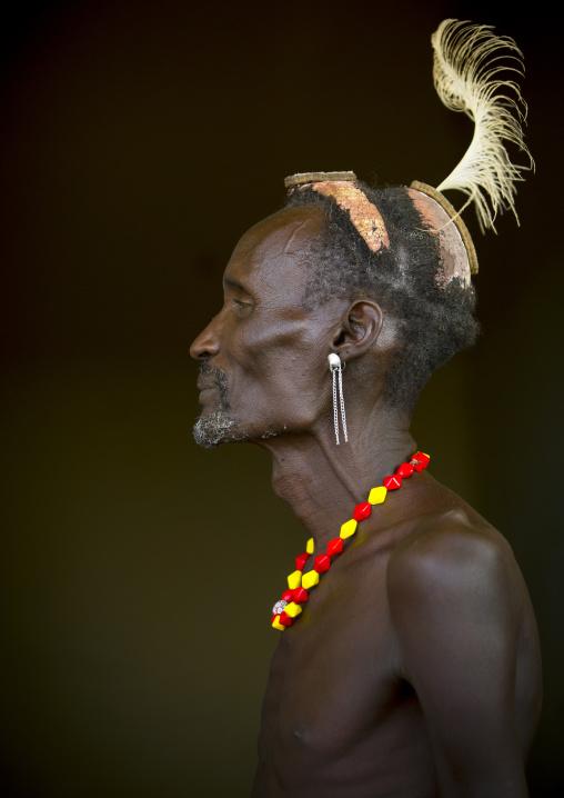 Dassanech Tribe Man, Omorate, Omo Valley, Ethiopia