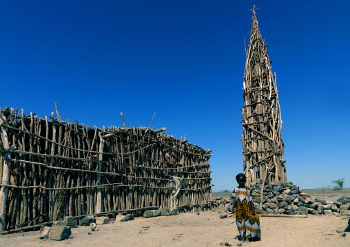 Mosque made of wood, Assaita, Afar regional state, Ethiopia