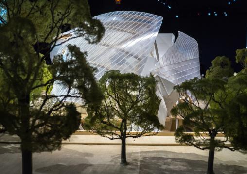 Louis Vuitton Foundation Model By Frank Gehry, Bois De Boulogne, Paris, France